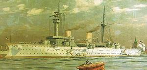 SMS Fürst Bismarck - Fritz Stoltenberg painting of Fürst Bismarck