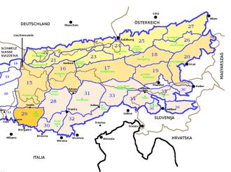 Bergamasque Alps and Prealps - Image: SOIUSA Alpi Orientali sezione 29