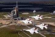 STS-123 Thunderbirds Flypast