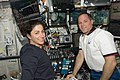 STS-128 ISS-20 Kevin Ford and Nicole Stott in the Destiny lab.jpg