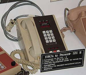 STU-II - STU-II secure telephone desk set. Electronics were housed in a separate cabinet.