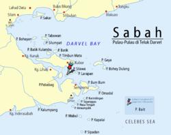 Loko de Bait Island en Sulavesa Maro