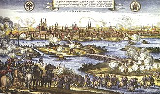 European wars of religion - The sack of Magdeburg in 1631. Of the 30,000 citizens, only 5,000 survived.