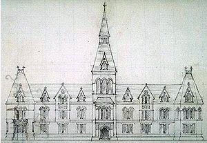 Sage Hall - An early conceptual sketch