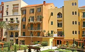 Urban village - The main square of Saifi Village in Centre Ville, Beirut, Lebanon