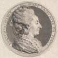 Saint-Aubin after Cochin - Print of a Portrait Medal of Fortunée-Marie d'Est, Princesse de Conti.png