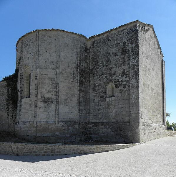Église de Saint-Vincent-de-Barbeyrargues (34). Chevet.