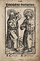Saint Cosmas and Saint Damian. Woodcut, 1517. Wellcome V0033175.jpg