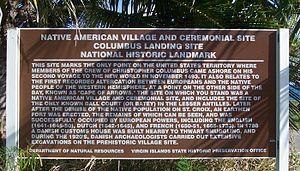 Salt River Bay National Historical Park and Ecological Preserve - Historical marker