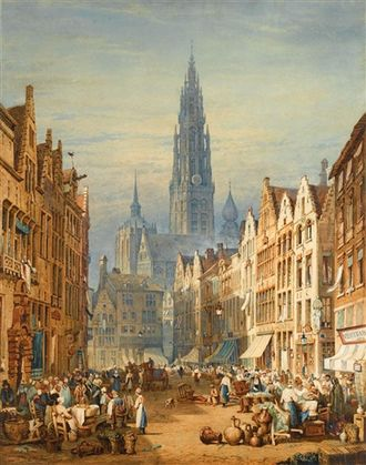 Samuel Prout - Market Day by Samuel Prout