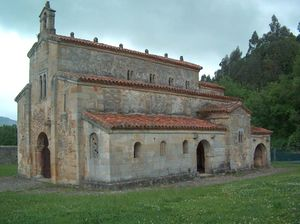 Villaviciosa, Asturias - Church of San Salvador de Valdediós (13th century).