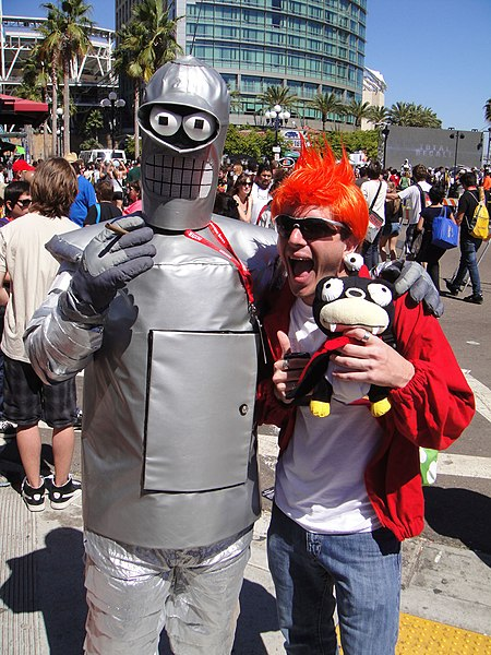 File:San Diego Comic-Con 2011 - Bender, Fry, and Nibbler from Futurama (5993391442).jpg