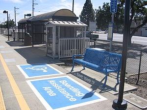 San Martin station - The station's platform
