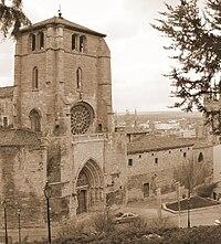 Vista de la Iglesia de San Esteban desde el castillo.