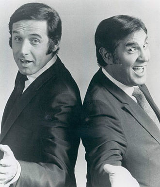 Tony Sandler - Sandler (left) with Ralph Young, 1970