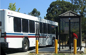 Santa Clara Valley Transportation Authority - VTA bus arriving at Foothill College in Los Altos Hills