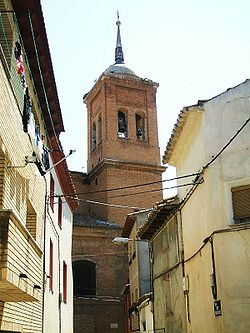 Bell tower of the church of San Salvador.