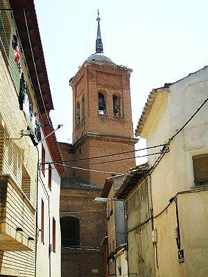 Sariñena - Bell tower of the church of San Salvador.