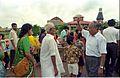 Saroj Ghose Controlling Queue - Dinosaurs Alive Exhibition - Science City - Calcutta 1995-07-31 366.JPG