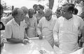 Saroj Ghose Explaining Science City Project To Prasanta Chatterjee - Meeting Between CMC And NCSM Officers - Science City Site - Dhapa - Calcutta 1993-04-22 0587.JPG