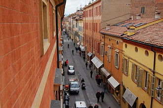 Sassuolo - View of Via Ciro Menotti in town's centre