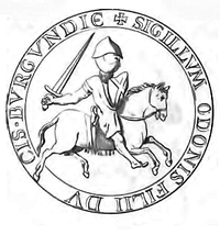 Sceau de Eudes III Duc de Bourgogne.png