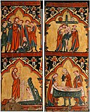 Scenes from the Life of Christ- Arrest of Christ, Christ in Limbo; Descent from the Cross, Preparation of Christ's Body for His Entombment MET sf55-62abs1.jpg