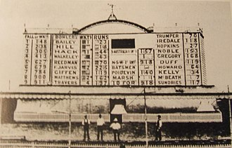 Sydney Cricket Ground - The SCG scoreboard in January 1901