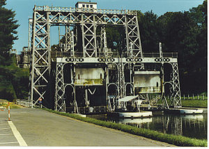 Edwin Clark (civil engineer) - Lift at Strépy-Bracquegnies (Belgium), one of a series of four World Heritage Clark lifts