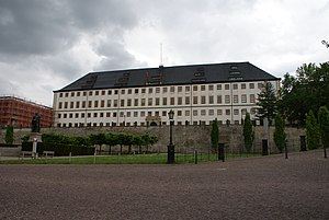 Friedenstein Palace - View of the main wing with the Pagenhaus from the north