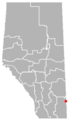 Schuler, Alberta Location.png