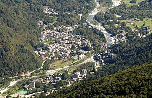 Scopello - aerial view of the town