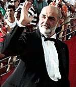 Photo o Sean Connery attendin the 60t Academy Awards in 1998.