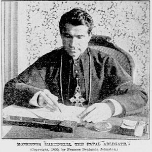Sebastiano Martinelli - Monsignor Martinelli, photographed in 1899 by Frances Benjamin Johnston