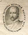 Sebastiano sanleolini, cosmianae actiones, firenze 1576 (mp 71) 03 ritratto francesco I.jpg