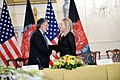 Secretary Clinton Shakes Hands With Afghan Foreign Minister Rassoul (8071809368).jpg