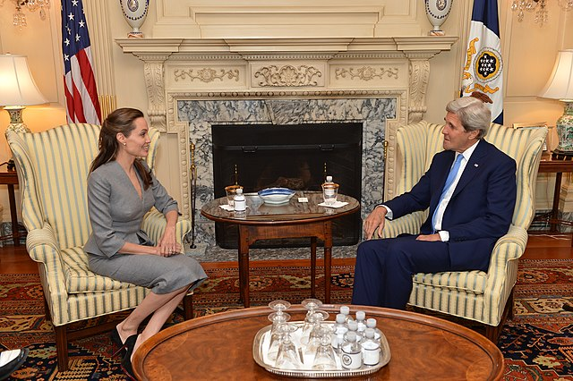 File:Secretary Kerry Meets with UNHCR Special Envoy Jolie Pitt ...