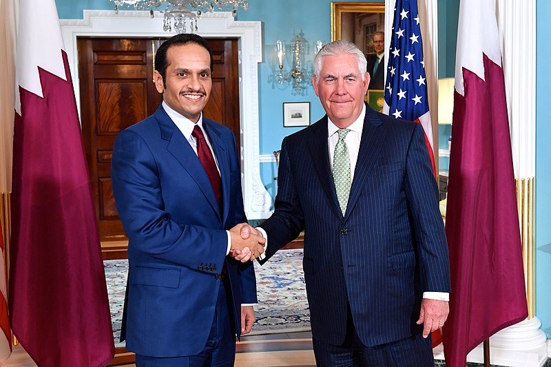 File:Secretary Tillerson and Qatari Foreign Minister Al Thani Pose for a Photo Before Their Meeting in Washington (34765422293).jpg