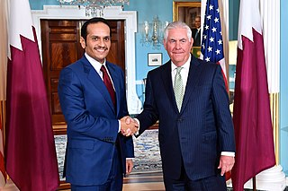 Deputy Prime Minister and Minister of Foreign Affairs Mohammed bin Abdulrahman bin Jassim Al Thani with former U.S. Secretary of State Rex Tillerson in 2017.