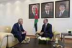 Secretary of Defense Chuck Hagel meets with Regent Faisal bin Al Hessein in Amman, Jordan, April 23, 2013.jpg