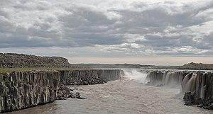 Jökulsá á Fjöllum - Selfoss, one of the main waterfalls in Jökulsá á Fjöllum river