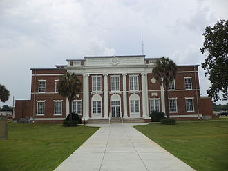 Seminole County, Georgia - Image: Seminole County Courthouse from parking lot