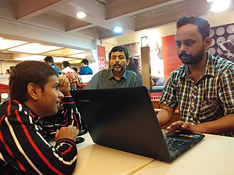 Mentorship - A senior editor mentors a junior editor.