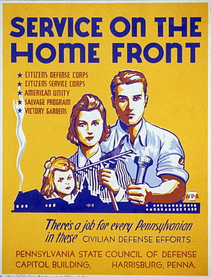 United States home front during World War II - Service on the Home Front by Louis Hirshman and William Tasker.