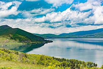 Sevan National Park - Lake Sevan and the park in June 2016
