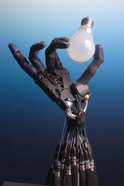 Shadow Hand Bulb, robot, vending