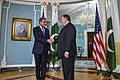 Shah Mehmood Qureshi with Mike Pompeo in Washington - 2018 (45058125011).jpg