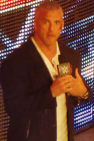 Shane McMahon - McMahon during a Raw show in April 2016