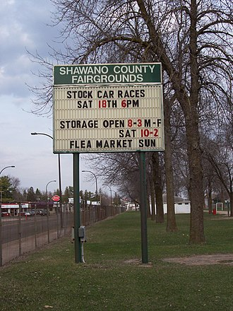 Shawano County, Wisconsin - Fairgrounds sign