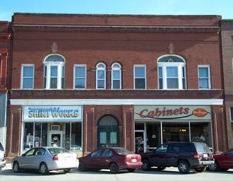 Shenandoah, Iowa - Business district of Shenandoah